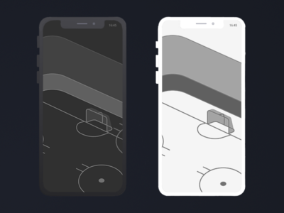 Hockey App illustration perpective hockey app dark and with white theme white dark theme dark flat  design hockey ice ice ice rink rink app hockey
