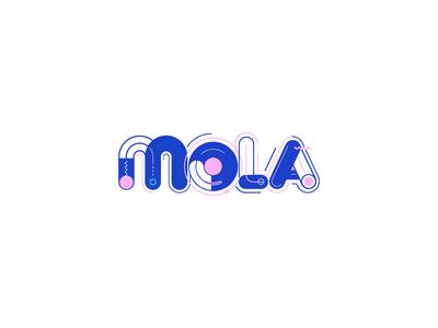 Mola experimental typography proposal type logo