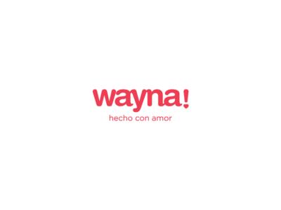 Wayna Logo made with love love logo branding