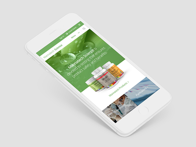 Mannatech Science responsive ios iphone mobile website web design ux ui