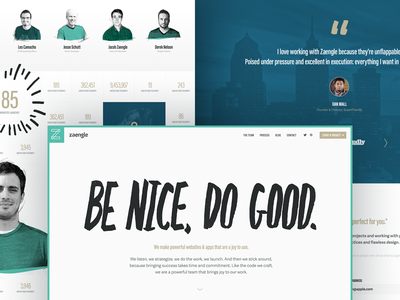 The *New* Zaengle Website agency web design ux website identity ui web clean brand branding design