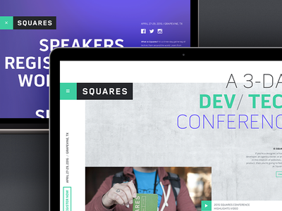 Squares Conference 2016 cms craft development front-end website conference web design
