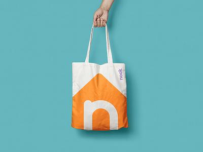 Nook Brand Exploration id logo mockup branding brand