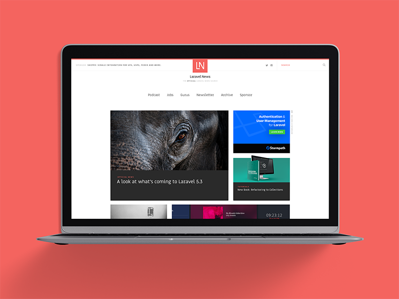 Laravel news dribbble   2.5