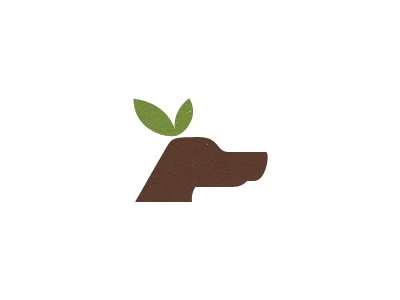 Organic Dog Treats Logo v2  leaf organic dog logo