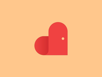 Homely Logo home homey cozy warm heart love real estate