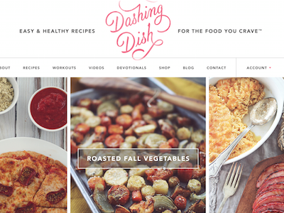 Dashing Dish Site site design food recipes modern big type