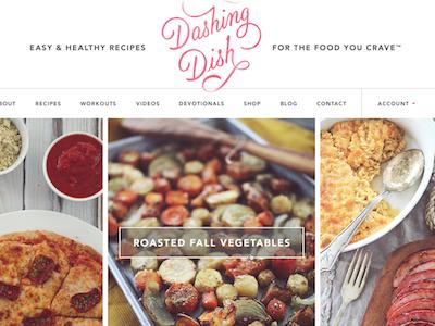 Dashing Dish Site site design food recipes modern big type