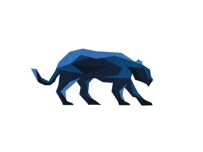 Logo WIP puma geometric shapes blue jaguar liger