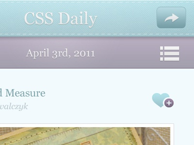 CSS Daily iPhone App iphone application textures stitch pattern app