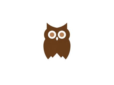 Owl / Mountain Logo owl logo mountain