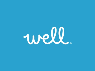Well Logotype logo logotype custom script handdrawn fun