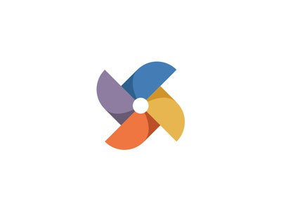 Propeller Pinwheel Logo