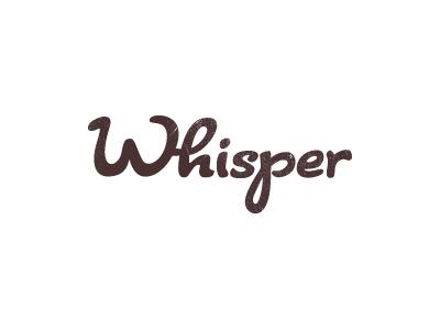 whisper logo by sean farrell dribbble