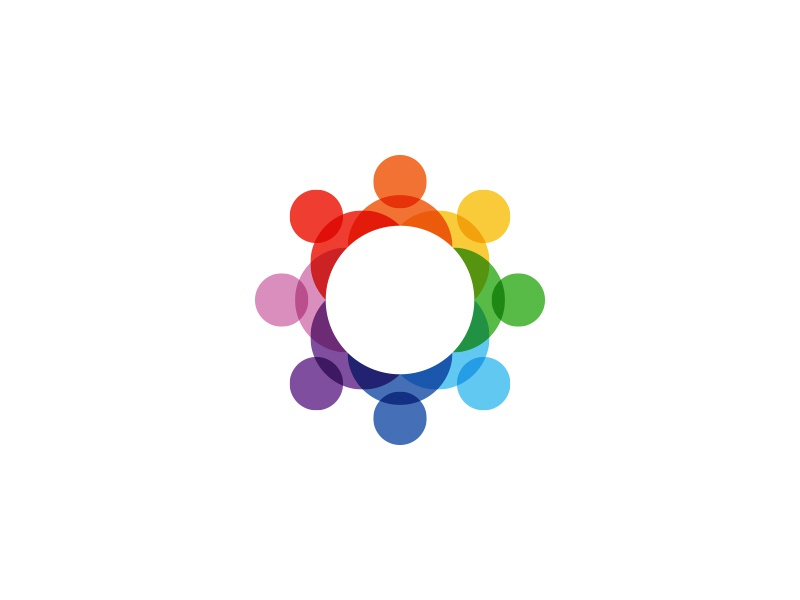 Connecting People Logo logo connect people colorful transparent