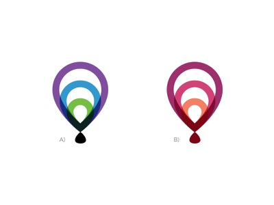 Logo Colors hot air balloon signal ibeacon proximity location