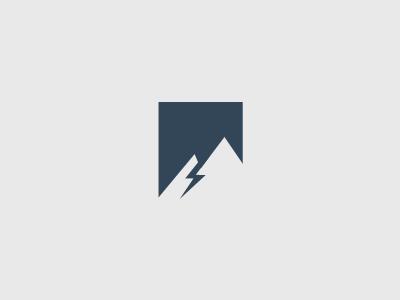 Blue Mountain Electric Logo logo blue mountain negative enclosure half