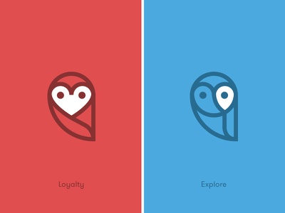 Wisely Logo Variations wisely logo owl variations explore loyalty heart geo pin