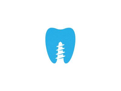 Dental Implants Guide Logo logo dentist screw ouch