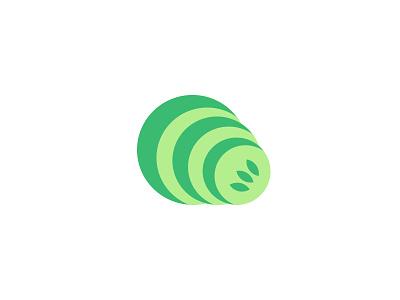 Cucumber Wifi Logo cucumber slices wifi symbol logo vegetables wireless