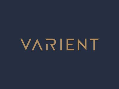 Varient Wordmark logotype custom capitals varient