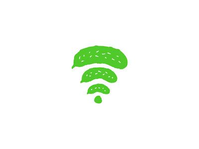 Cucumber Wifi wifi cucumber vegetable or fruit logo veggies