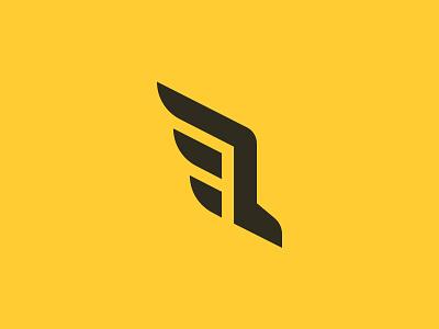 Run / Wings Logo Concept fly shoe run wings