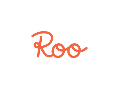 Roo Lettering lined fun flow roo script custom lettering