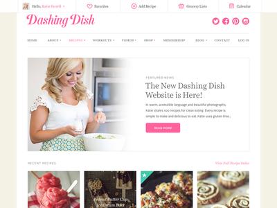 New Dashing Dish Website