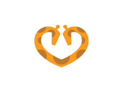 Dating App Logo giraffe logo necking