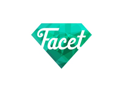 Facet Logo logo gem diamond facet cut