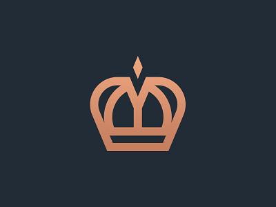 Crown M Logo monarchy monogram m crown logo