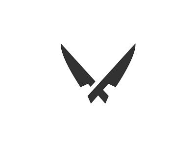 Chef / Recipe Logo food recipes utensil cutlery symbol logo knife chef