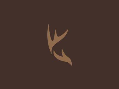 Huntwise Logo design logo antlers stag deer rack wise hunt