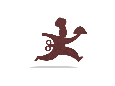 Restaurant Logo restaurant turn key chef hat platter logo illustration