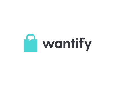 Wantify Logo Concept business chat communicate design logo commerce shopping want