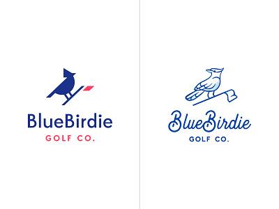 BlueBirdie Logo Option illustration symbol identity design logo bird bluejay