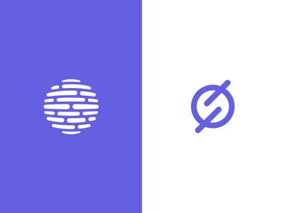 Survey Planet Logos design mark symbol outer space planet s opinion survey logo