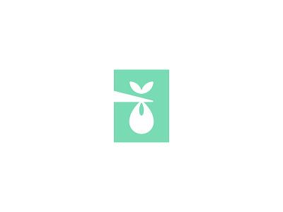 Cradled Logo design mark symbol logo love infant care baby gentle bundle stork cradled
