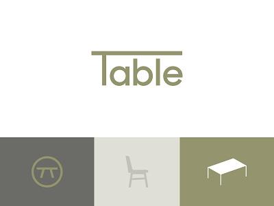 Table Logo's design symbol logo table consulting pr