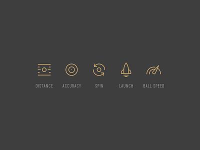 MyGolfSpy Icons design golf symbols icons