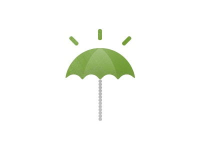 Upbrella Consulting Logo umbrella consulting idea light bulb