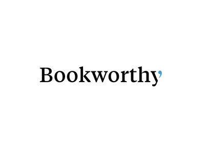 Bookworthy Logotype communicate chat talk book quote tiempos logotype type logo