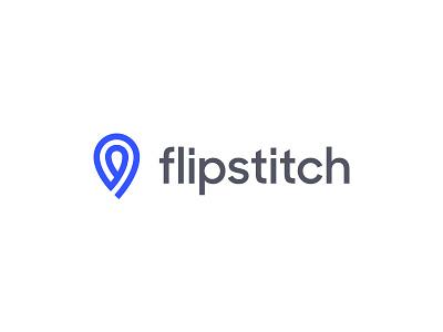 Flipstitch Final location geo design overlap thread flip logo