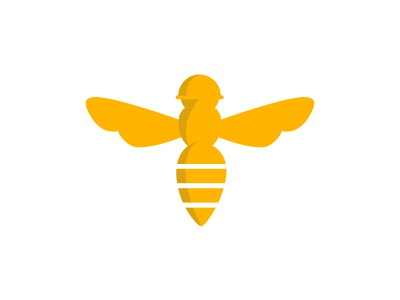 Army of Bees bee logo yellow