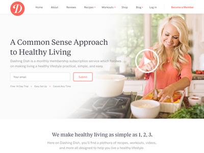 Dashing Dish Homepage Redesigns
