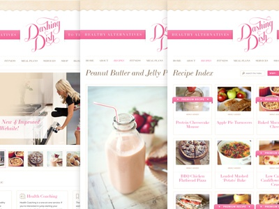 Dashing Dish Launch dashing dish website redesign design food recipes nutrition