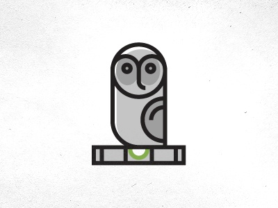 Grey Owl Inspections Logo logo owl inspection level geometric character