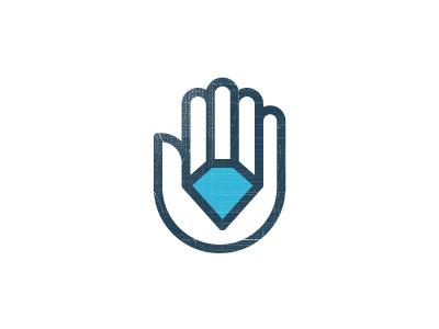 Diamond Auto Logo logo wip hand diamond geo line simple
