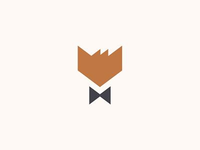Fox Clothing Brand unique fun geometric simple hair black tie fancy fox logo
